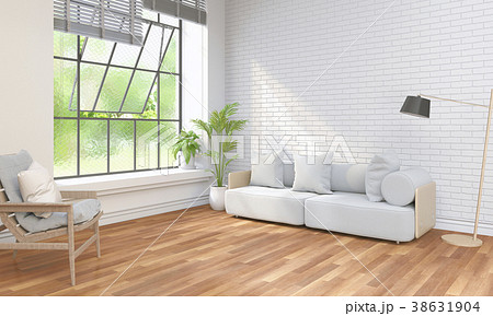Living room interior in modern style, 3d render 38631904