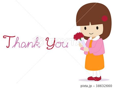 可愛い女の子 母の日 ありがとうのイラスト素材 38632660 Pixta