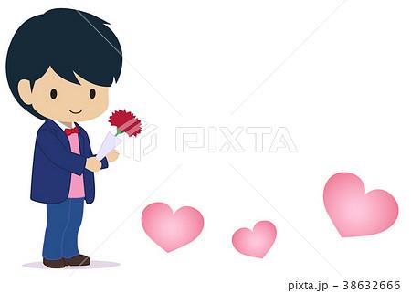 可愛い男の子 母の日 ハート小のイラスト素材 38632666 Pixta