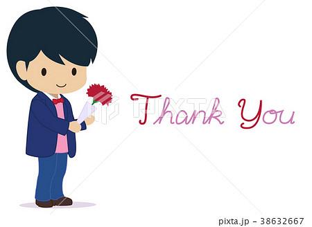 可愛い男の子 母の日 ありがとうのイラスト素材 38632667 Pixta