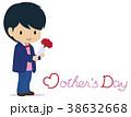 人物 男の子 母の日のイラスト 38632668