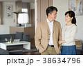夫婦 ポートレート リビング イメージ 38634796