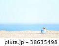 夏 瓶 砂浜の写真 38635498
