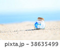 夏 瓶 砂浜の写真 38635499