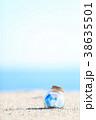 夏 瓶 砂浜の写真 38635501