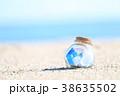 夏 瓶 砂浜の写真 38635502