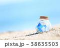 夏 瓶 砂浜の写真 38635503