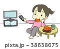 テレビ 見る 女性 38638675