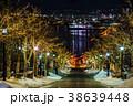八幡坂 イルミネーション 夜景の写真 38639448