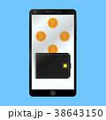 スマートフォン お財布 サイフのイラスト 38643150