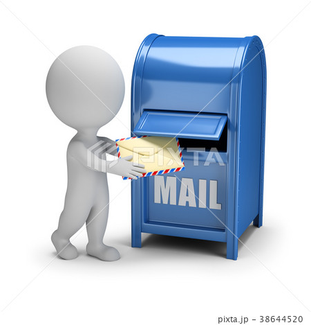 3d small people - letter and mail box 38644520