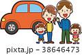 家族 二世帯 マイカーのイラスト 38646473