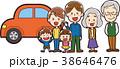家族 マイカー 三世帯のイラスト 38646476