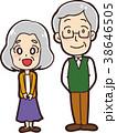 シニア 夫婦 老夫婦のイラスト 38646505