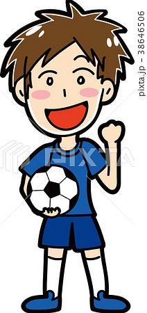 男子サッカー選手のイラスト素材 38646506