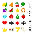 カジノ カジノの イコンのイラスト 38647009