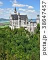 ノイシュヴァンシュタイン城 建物 ドイツの写真 38647457