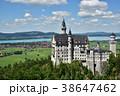 ノイシュヴァンシュタイン城 建物 ドイツの写真 38647462