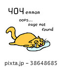 猫 落胆した オレンジのイラスト 38648685