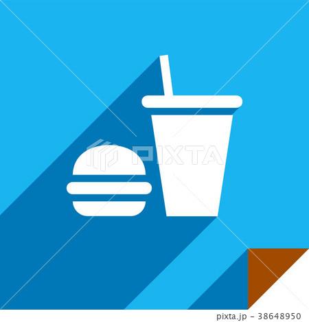 Icon on square sticker 38648950