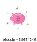 仮想通貨 ビットコイン 土手のイラスト 38654246