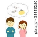 夫婦 男女 考えるのイラスト 38656280