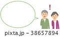 シニア 夫婦 ベクターのイラスト 38657894