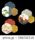 和柄 セット 縁起物のイラスト 38658316