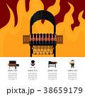 BBQ バーベキュー ピクニックのイラスト 38659179