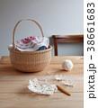 モチーフ編みとカゴ 38661683