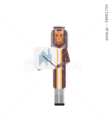 Arabic man with business diagram 38661750
