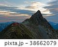 大喰岳から見る夜明けの槍ヶ岳 38662079