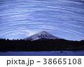 富士山 星景 星の写真 38665108