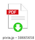 PDF Document Download Icon, Vector Illustration 38665658
