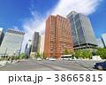 道路 高層ビル 建物の写真 38665815