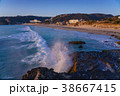 海 海岸 波の写真 38667415