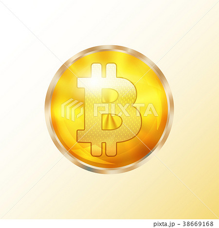 Golden bitcoin coin icon 38669168