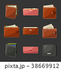 カバン 巾着 巾着袋のイラスト 38669912