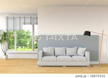 Living room interior in modern style, 3d render 38670202