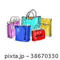 ショッピングバッグ バーゲン ショッピングのイラスト 38670330