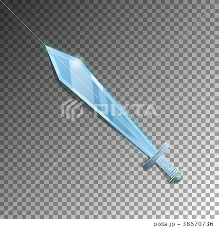 Medieval sword isolated game element 38670736