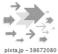 やじるし アロー 矢印のイラスト 38672080