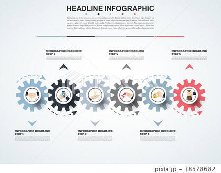 abstract infographics number options template のイラスト素材