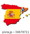 スペインとカタルーニャ地図と国旗 38678721