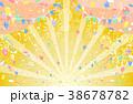 紙吹雪 花火 バルーンのイラスト 38678782