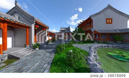 中国式住居と中庭 38678806