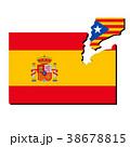 スペインとカタルーニャ国旗 38678815