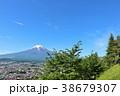 富士山 山 青空の写真 38679307