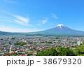 富士山 山 青空の写真 38679320