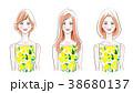 女性 髪型 人物のイラスト 38680137